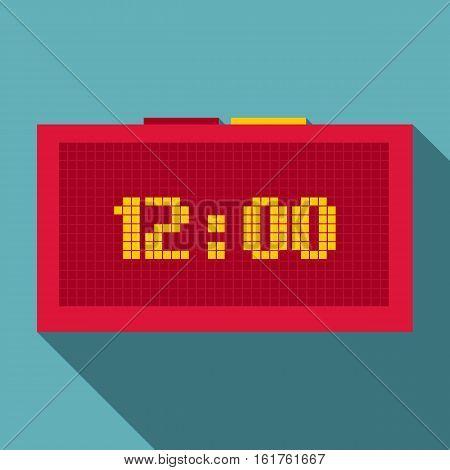 Digital clock icon. Flat illustration of digital clock vector icon for web