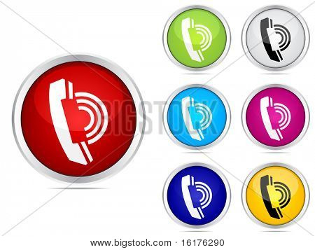 (raster image of vector) contact buttons different colors