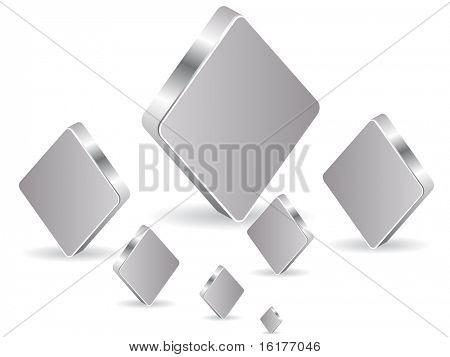 (raster image of vector) poker element - rhombus