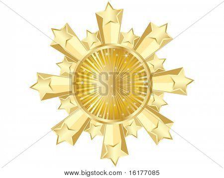 (raster image of vector) golden casino banner