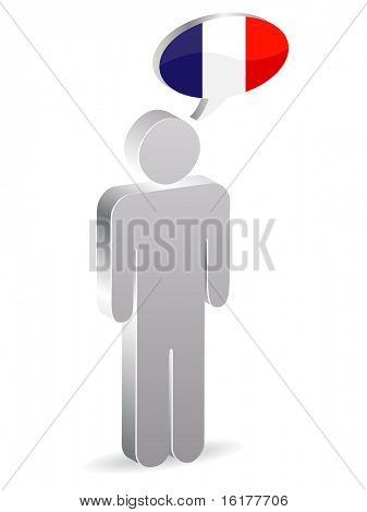 (raster image of vector) french man