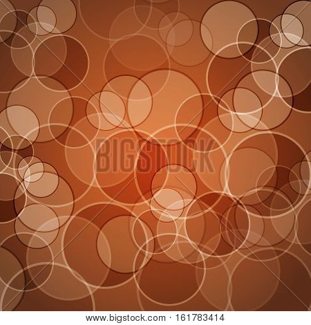 Abstract orange background with circles, stock vector