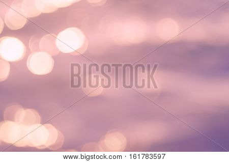 Blur Tropical Beach And Blue Sky White Cloud With Bokeh Sun Light Wave Abstract Background.