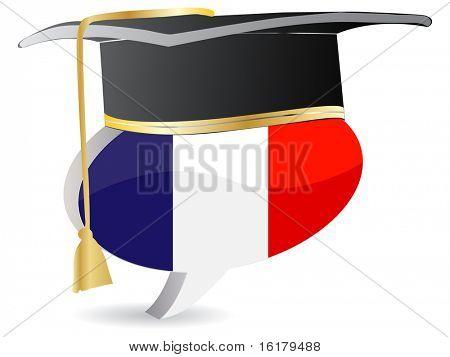 (raster image of vector) france graduation