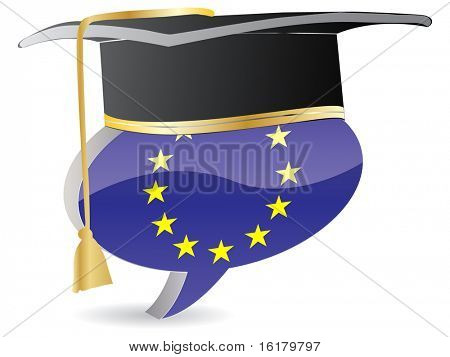 (raster image of vector) european graduation