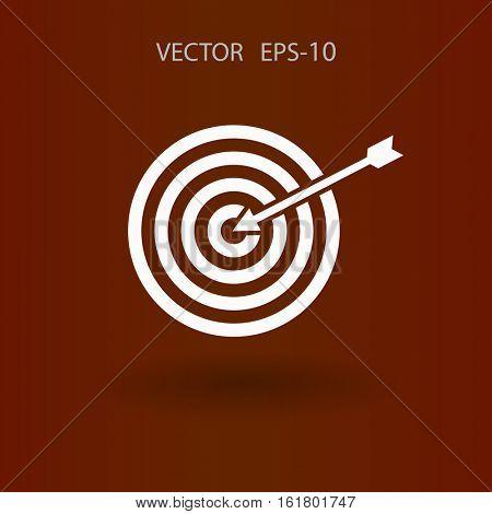 Flat icon of aim vector illustration