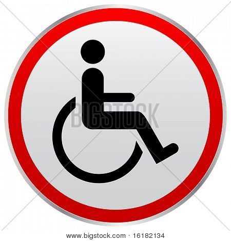 (raster image of vector) disabled person sign