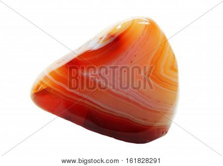 agate with chalcedony geological crystal isolated quartz