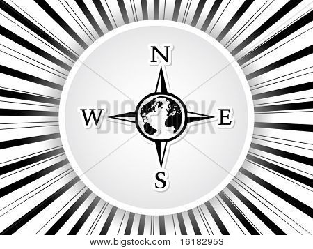 (raster image of vector) compass