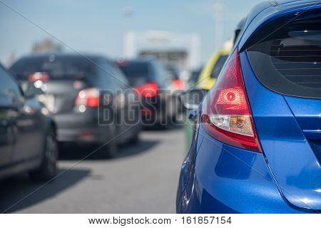 Traffic Jam On Express Way