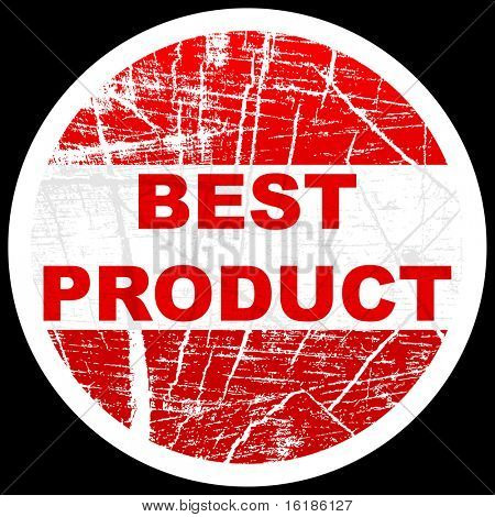 (raster image of vector) best product stamp
