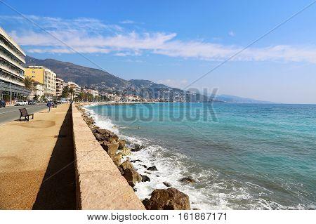 Promenade du Soleil Menton Alpes-Maritimes Provence-Alpes-Cote d'Azur France