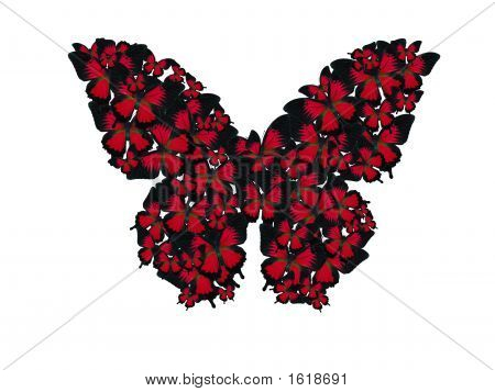 Butterflies In Butterfly Shape