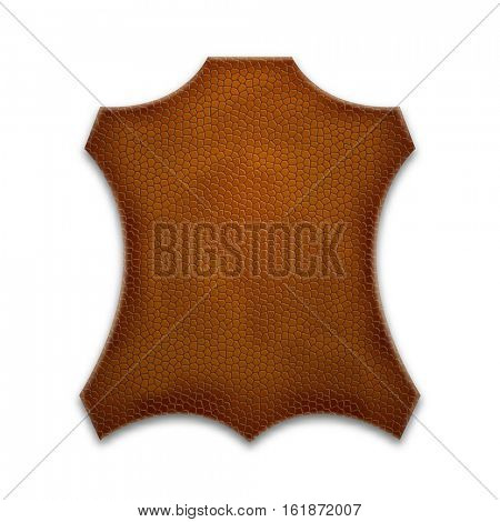Vector leather sign. Element for your design