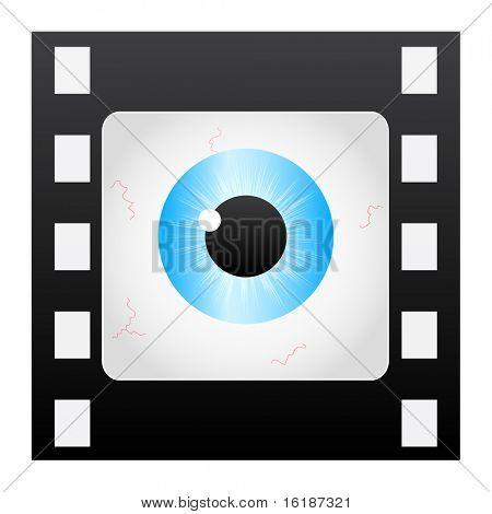 (raster image of vector) filmstripe eye