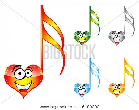 (raster image of vector) song of love