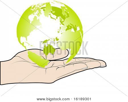 (raster image of vector) protect the world