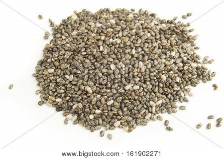 Chia seeds isolated over a white background