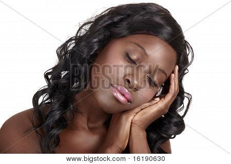 African Dreaming Beautiful Woman