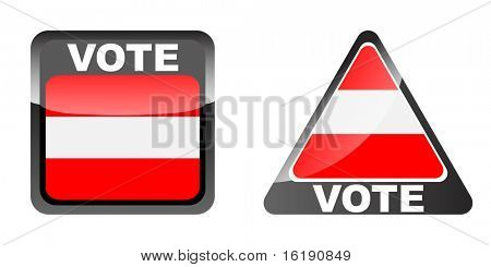 (raster image of vector) vote banner