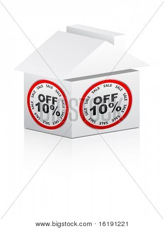 (raster image of vector) ten percent discount