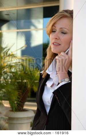 Tired Woman On The Phone