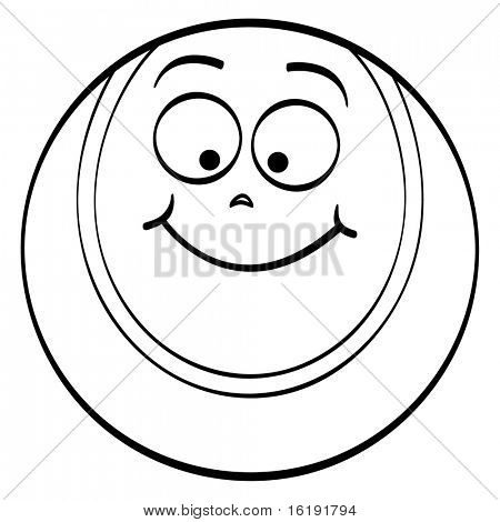 (raster image of vector) tennis ball