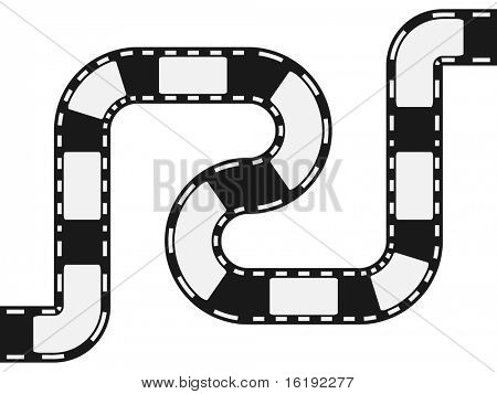 (raster image of vector) filmstripe circuit