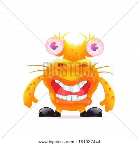 Monsters character. Funny cartoon character. Isolated vector illustration.