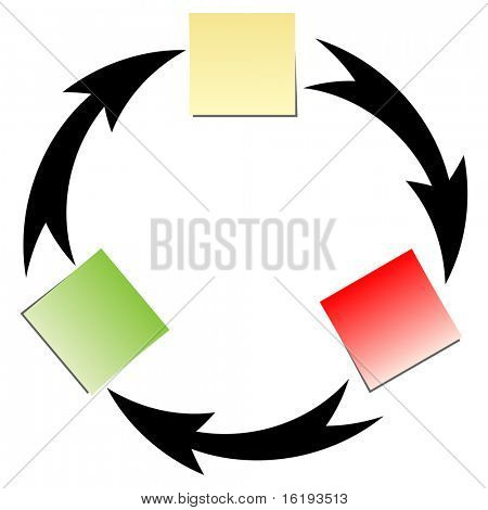 (raster image of vector) flow diagram