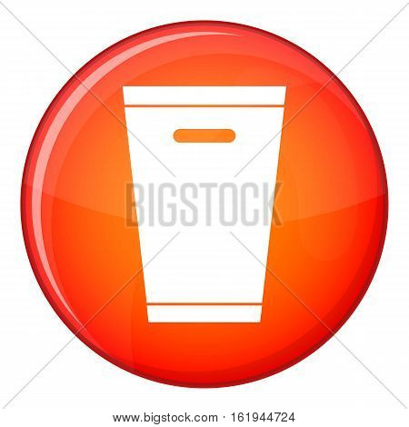 Trash can icon in red circle isolated on white background vector illustration