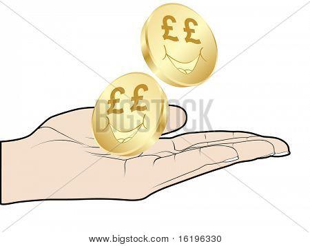(raster image of vector) lira coins