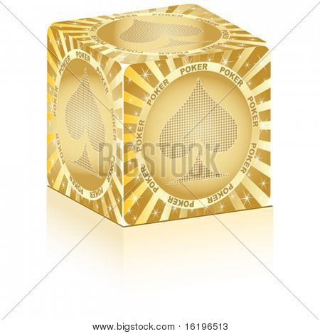 golden box with poker element