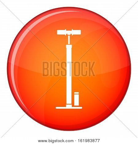 Bicycle pump icon in red circle isolated on white background vector illustration