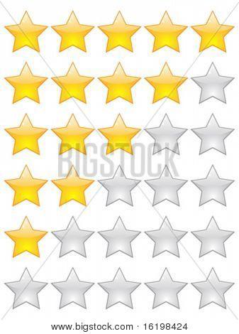 estrellas de calificación