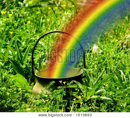 Pot Of Gold End Of Rainbow