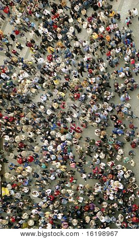 People crowd texture. People background. many people on street