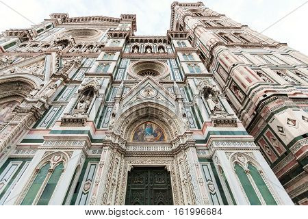 Facade Of Florence Cathedral In Morning