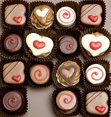 stock photo of valentine candy  - chocolate candies - JPG