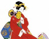image of japanese woman  - Illustration of Japanese young lady - JPG