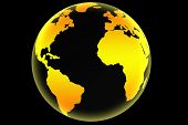picture of world-globe  - Transparent world globe - JPG