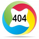 (raster image of vector) 404 error button