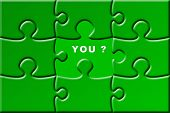 foto of miss you  - Puzzle with missing piece  - JPG