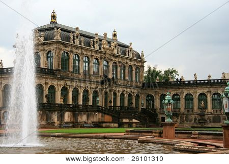 Dresden. Zwinger Palace Major german landmark