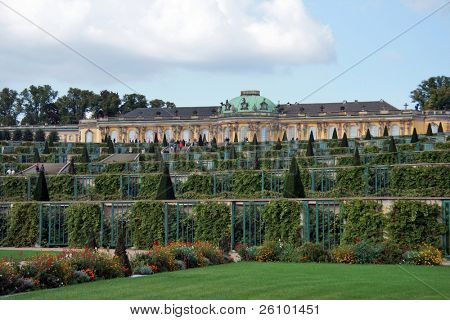 Travel in Germany. Potsdam. Palace of Frederick the Great King of Prussia Sans Souci