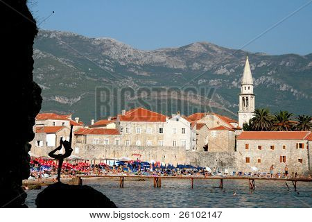 Travel. Summer in Montenegro. Budva. View point