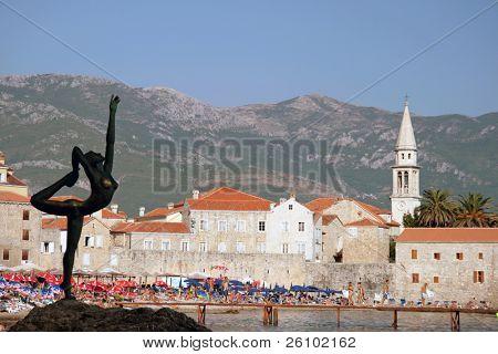 Travel. Summer in Montenegro. Budva. View point