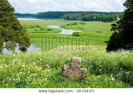 Travel in Russia. Pskov Region. Ancient site - Savkina gorka