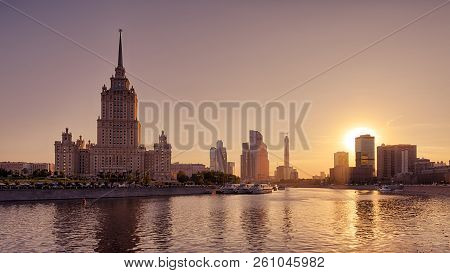 Panoramic View Of Moscow At