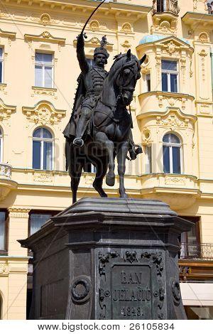 Jelacic Square. City Centre, Upper Town, Zagreb, Croatia
